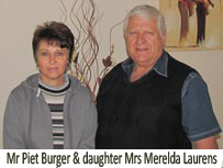 Piet Burger & daughter Merelda Laurens